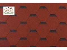 66m2 de tuiles rouges/noires en feutre bitumé (22 paquets de 3m²)