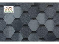 144m2 de tuiles grises/noires en feutre bitumé (48 paquets de 3m²)