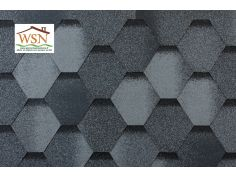 126m2 de tuiles grises/noires en feutre bitumé (42 paquets de 3m²)