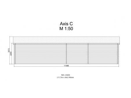 Chalet en bois  ISÈRE Dim. (11500x6000-44mm)