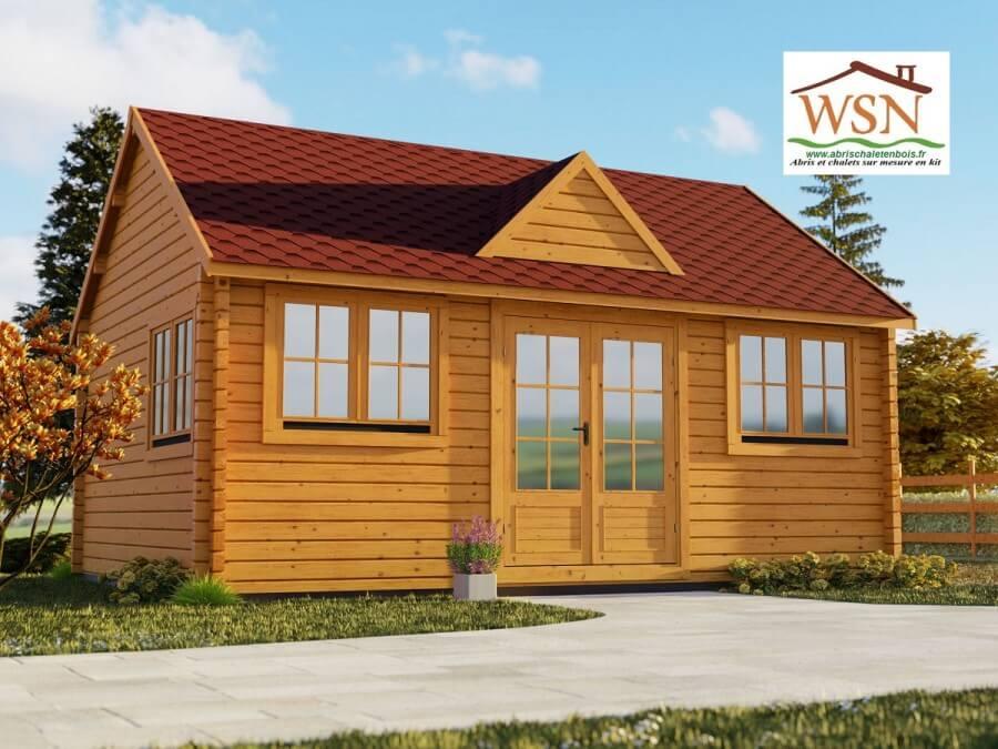 Bungalow en bois  VOSGES 36m² WS 1156 | WSN